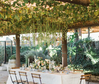 Vineyard wedding tablescape