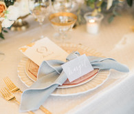 Blue place setting
