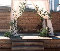 Rooftop wedding ceremony