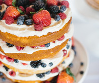 Berry flavored naked cake