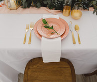 Peach place setting