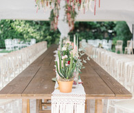 Boho macrame table runner