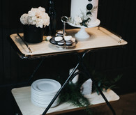 Lunar inspired wedding cake