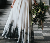 Dip dyed wedding skirt