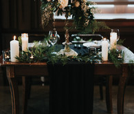 Moody wedding decor