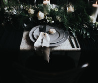 Moody gray place setting
