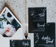 Dark, romantic invitation suite