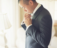 Groom getting ready
