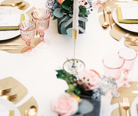 Modern gold table settings