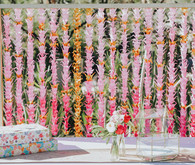 Pink wedding backdrop