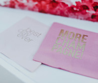Pink cocktail napkins