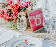 Pink table numbers