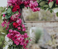 Pink floral arch