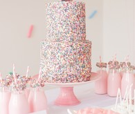 confetti girl's birthday party