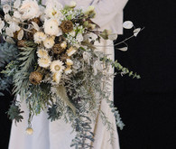 Green and bridal bouquet