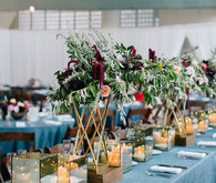 Colorful wedding decor
