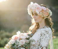 Spring boho bridal fashion