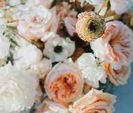 Bohemian spring wedding flowers