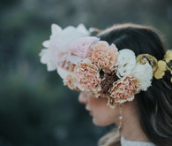 Bohemian flower crown