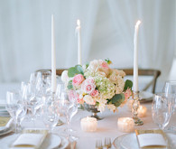 Romantic wedding reception
