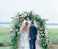 Floral ceremony arch