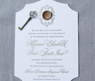 Gold wedding invitations