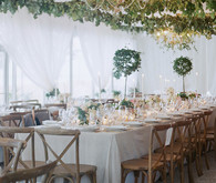 Romantic Charleston wedding reception
