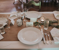 Simple, rustic place setting