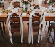 Bride and groom chairs