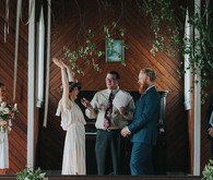 Catskills wedding ceremony