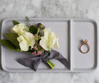 Modern Mauve and Marble Loft Wedding Inspiration