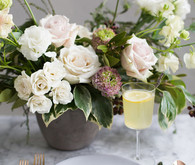 Modern spring place setting