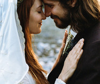 Bohemian wedding portrait