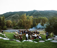 Rustic bohemian wedding in Aspen
