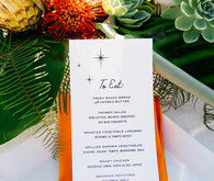 Mid-century inspired menu