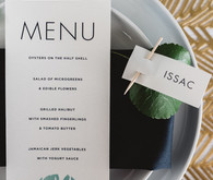 Modernt tropical menu