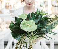 Tropical bridal bouquet