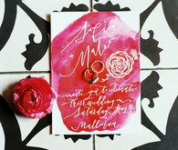 Vibrant wedding invitations