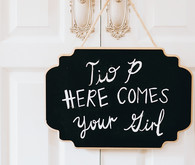 Wedding chalkboard sign