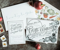 Veggie garden baby shower invites