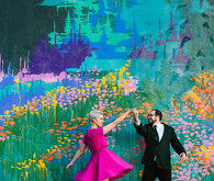 Colorful engagment portraits