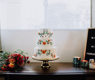 Fiesta themed wedding cake