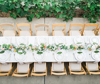 Wine country wedding tablescape
