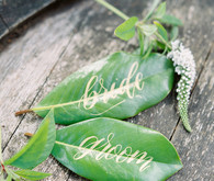 Leaf escort cards