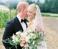Wine country wedding portrait
