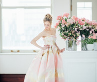 Pink bridal gown
