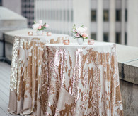 Sequin tablecloth