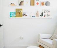 Modern, bright designer nursery by Almost Makes Perfect