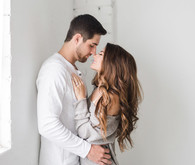 Romantic engagement portrait
