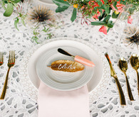 Modern glam place setting